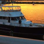 victory yacht sunset dockside
