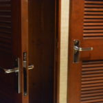 cherry wood cabin doors