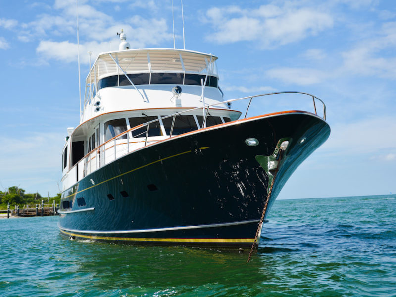 victory yacht bow view
